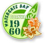 Cornwall Watergate Bay 1960 Surfer Surfing Design Vinyl Car sticker decal 97x95mm